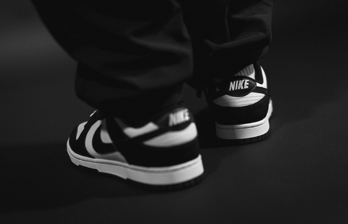 Nike Dunk Low Black White DD1391-100 on foot 03