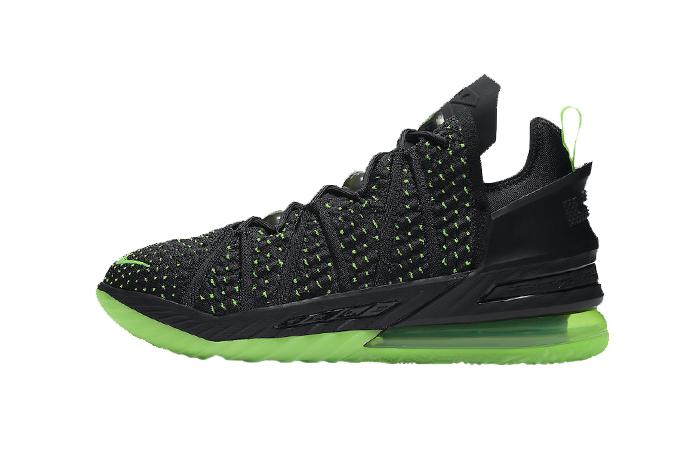 Nike LeBron 18 Dunkman Black Electric Green CQ9283-005 01
