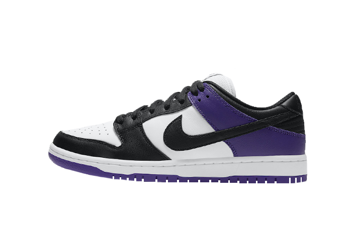 Nike SB Dunk Low White Black Court Purple BQ6817-500 01