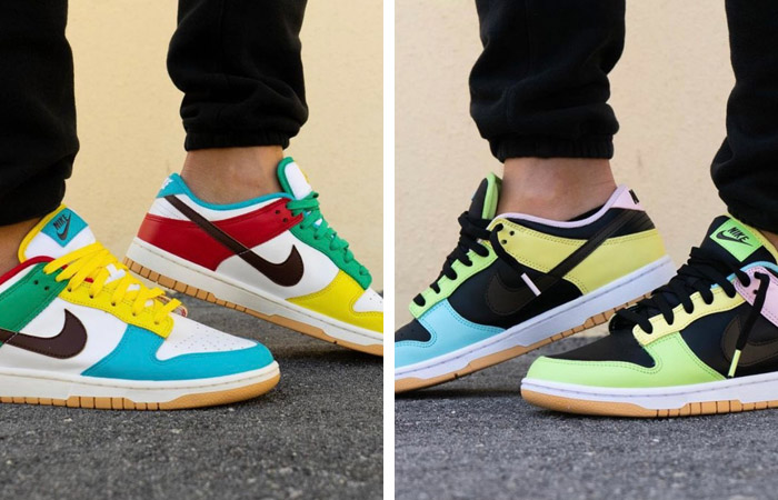 """On Feet Images Of The Upcoming Nike Dunk Low """"Free 99 Pack"""" ft"""