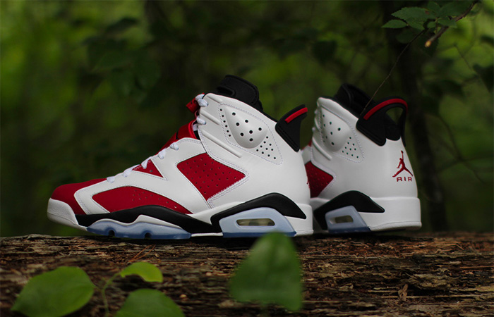 """Take A Closer Look At Air Jordan 6 """"Carmine"""" Features Nike Air On Heel After 30 Years ft"""