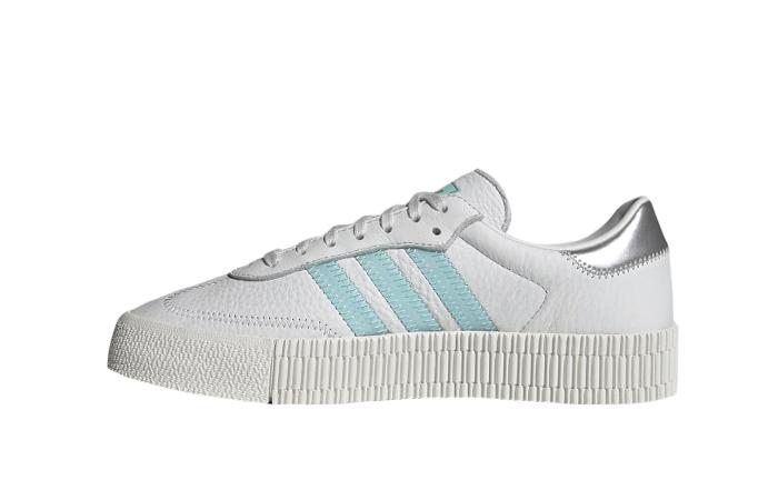 adidas Swarovski Sambarose Crystal White Aqua Womens GZ8618 01