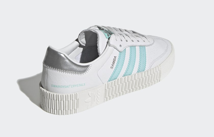 adidas Swarovski Sambarose Crystal White Aqua Womens GZ8618 05