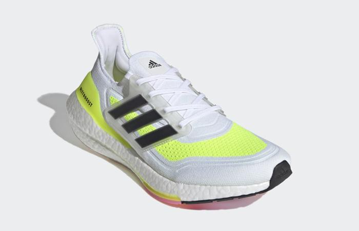 adidas Ultra Boost 21 Cloud White Solar Yellow FY0377 02