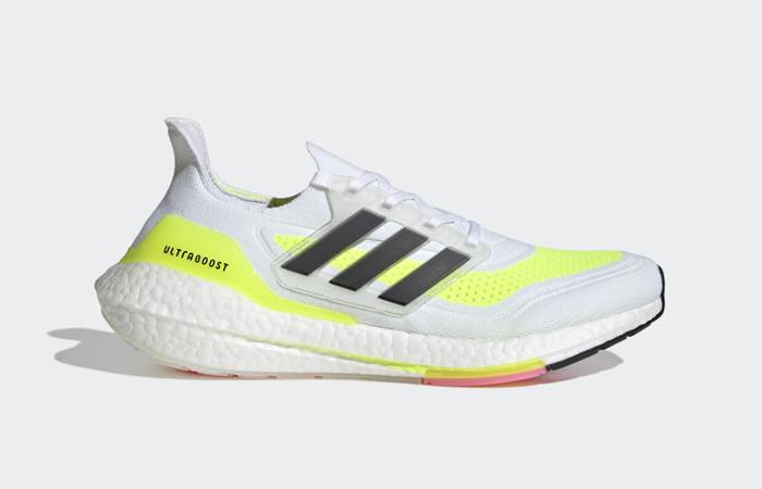 adidas Ultra Boost 21 Cloud White Solar Yellow FY0377 03