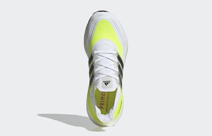 adidas Ultra Boost 21 Cloud White Solar Yellow FY0377 04