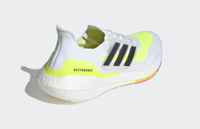 adidas Ultra Boost 21 Cloud White Solar Yellow FY0377 05