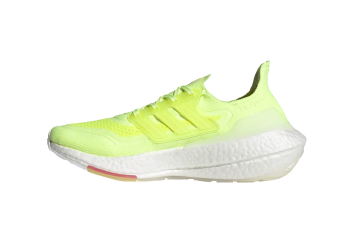 adidas Ultra Boost 21 Hi Res Yellow White Womens FY0398 01