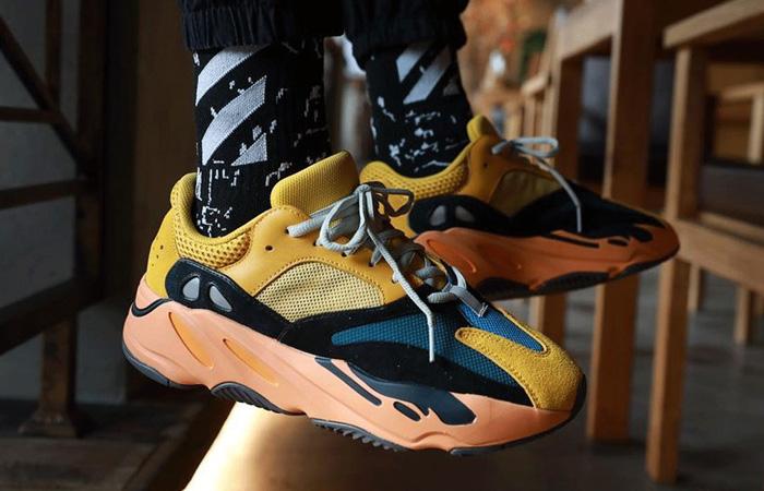 adidas Yeezy Boost 700 V1 Sun Yellow Orange GZ6984 on foot 02