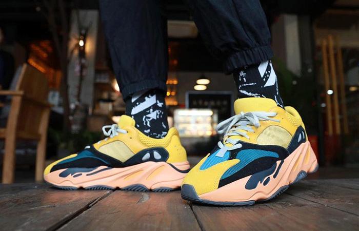 adidas Yeezy Boost 700 V1 Sun Yellow Orange GZ6984 on foot 03