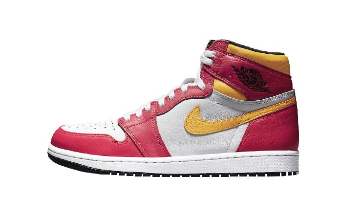 Air Jordan 1 High Light Fusion Red White 555088-603 01