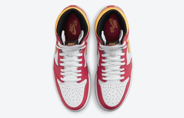 Air Jordan 1 High Light Fusion Red White 555088-603 07