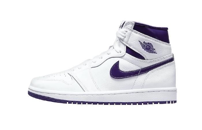 Air Jordan 1 High White Court Purple Womens CD0461-151 01