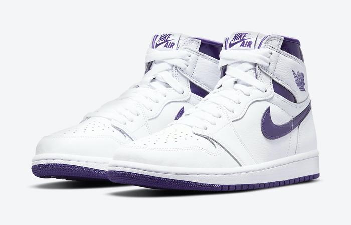Air Jordan 1 High White Court Purple Womens CD0461-151 05