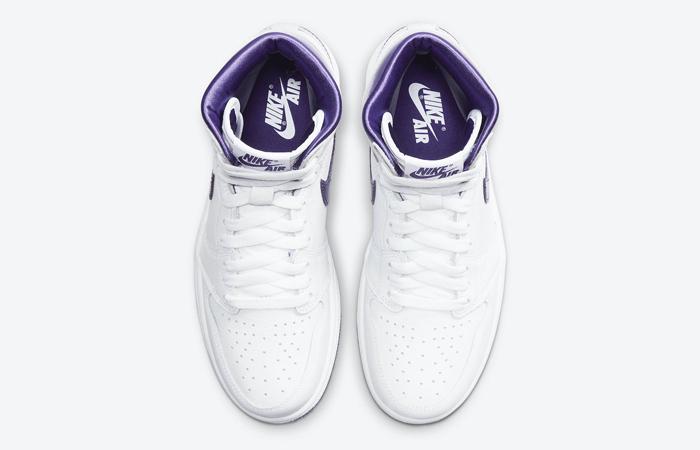 Air Jordan 1 High White Court Purple Womens CD0461-151 07