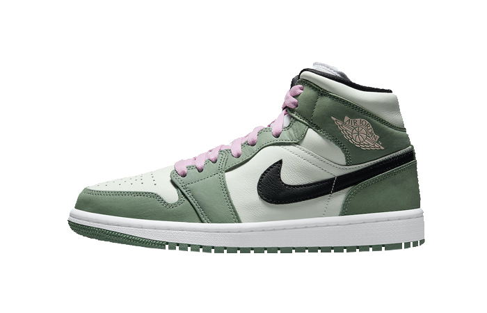 Air Jordan 1 Mid Dutch Green White Pink CZ0774-300 01