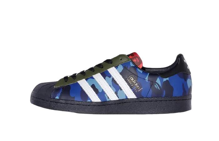 BAPE adidas Superstar Camo Bred Blue 01