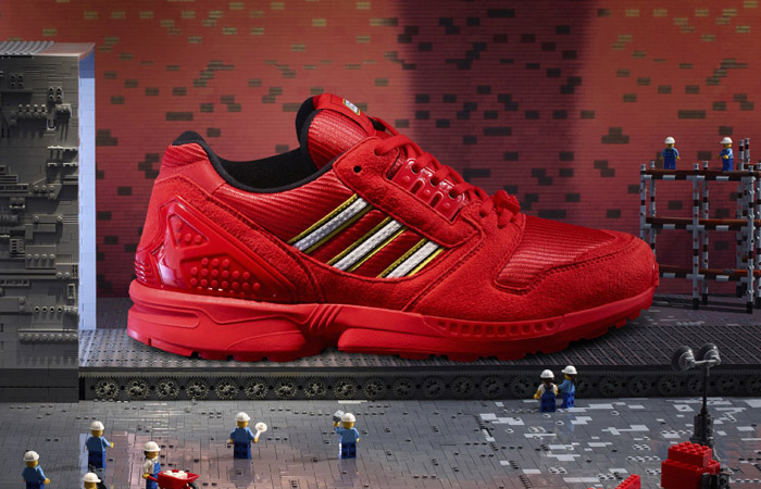 LEGO adidas ZX 8000 Red White FY7084 06