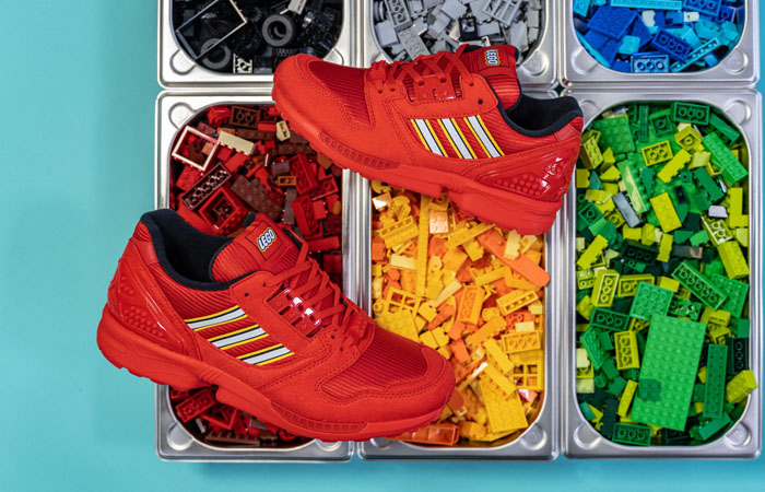 LEGO adidas ZX 8000 Red White FY7084 07