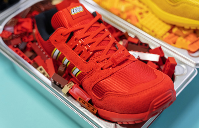 LEGO adidas ZX 8000 Red White FY7084 08