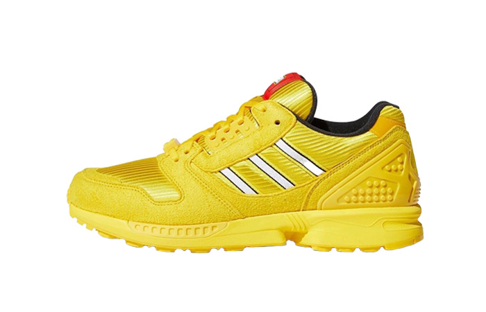 LEGO adidas ZX 8000 Yellow White FY7081 01