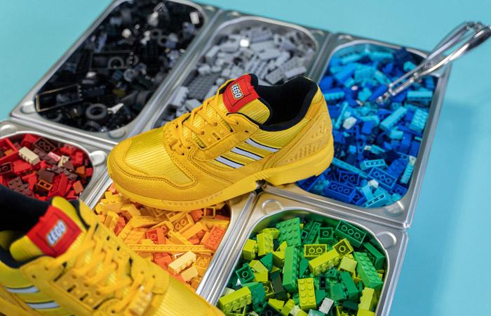 LEGO adidas ZX 8000 Yellow White FY7081 07