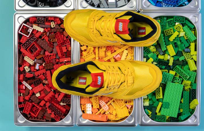 LEGO adidas ZX 8000 Yellow White FY7081 08
