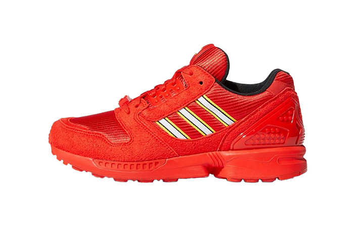 LEGO adidas ZX 8000 Red White FY7084 01