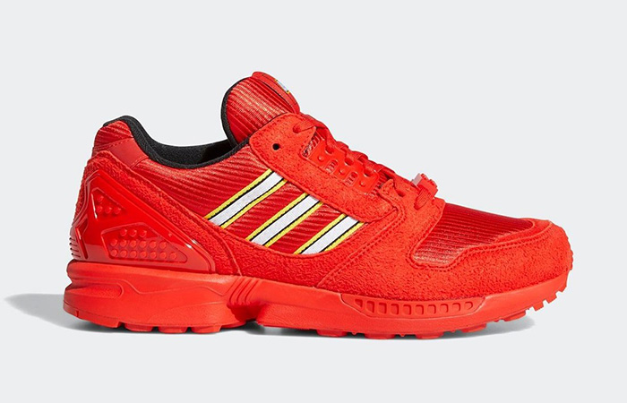 Lego adidas ZX 8000 Red White FY7084 03
