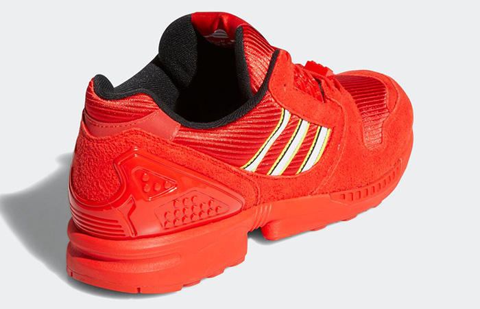 Lego adidas ZX 8000 Red White FY7084 05