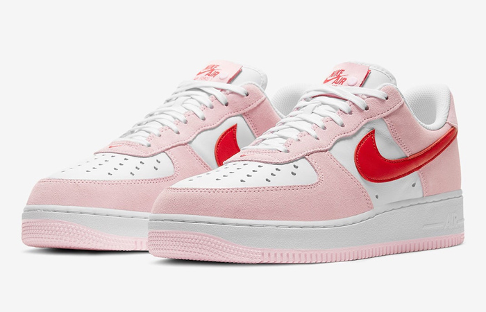 Nike Air Force 1 07 Low Valentines Day Tulip Pink DD3384-600 04