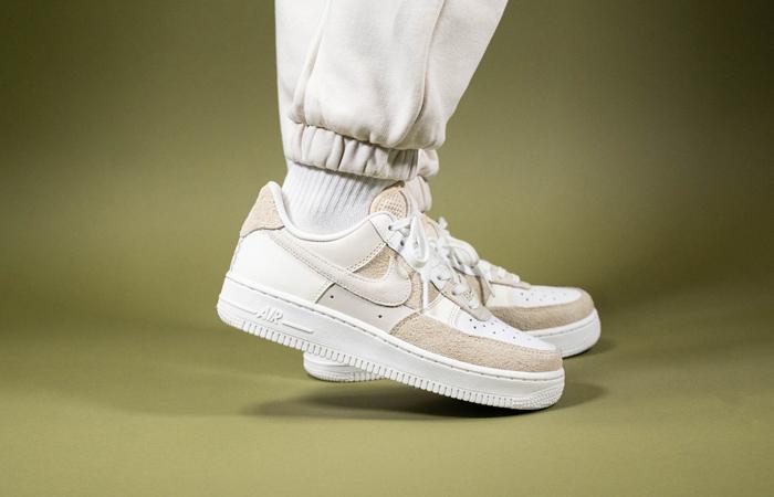 Nike Air Force 1 Beach Coconut Milk Womens DD6618-100 on foot 01