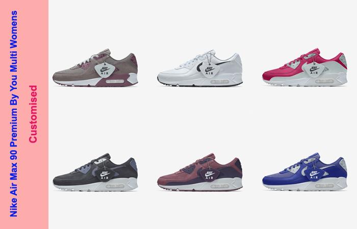 Nike Air Max 90 Premium By You Multi Womens DJ3605-991 02
