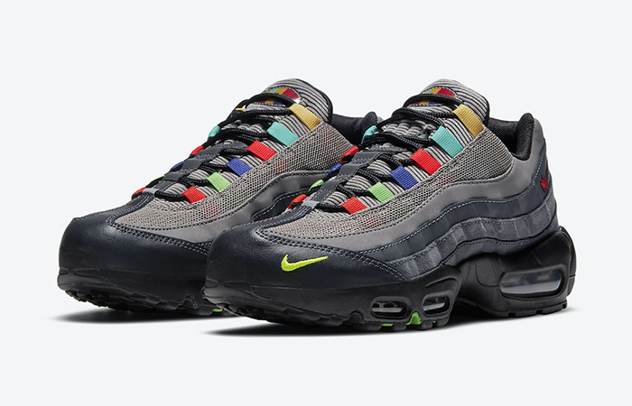 Nike Air Max 95 Essential Light Charcoal Red Black CW6575-001 02