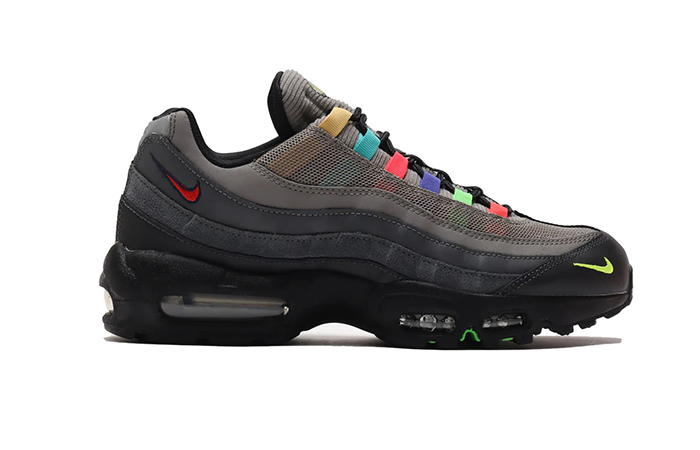 Nike Air Max 95 Essential Light Charcoal Red Black CW6575-001 04