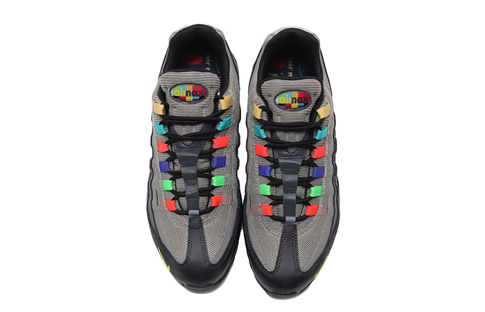 Nike Air Max 95 Essential Light Charcoal Red Black CW6575-001 05