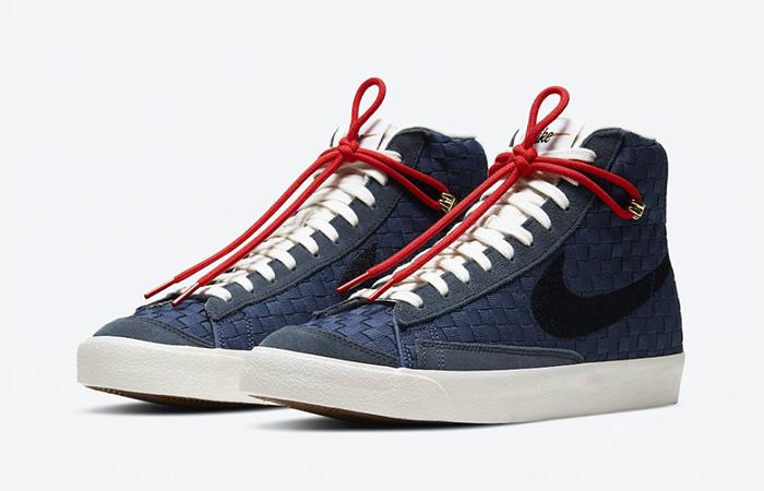 Nike Blazer Mid 77 Sashiko Midnight Navy Red DD5486-492 02