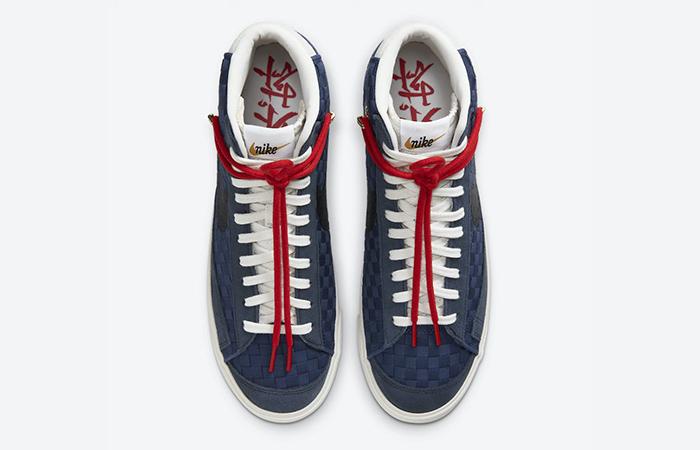 Nike Blazer Mid 77 Sashiko Midnight Navy Red DD5486-492 04