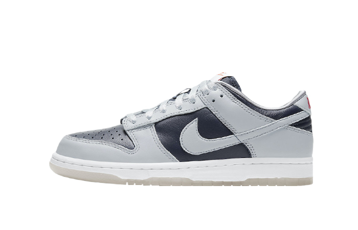 Nike Dunk Low College Navy Wolf Grey Womens DD1768-400 01