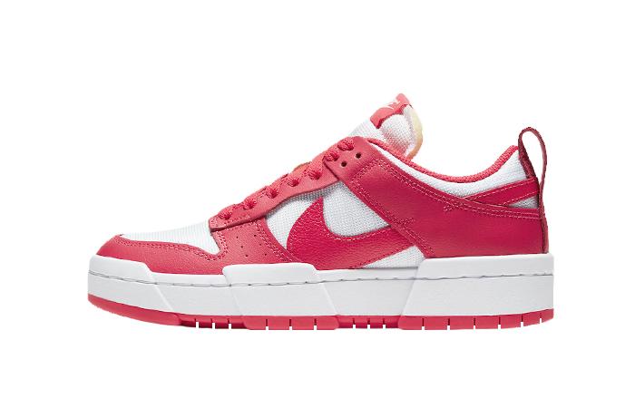 Nike Dunk Low Disrupt Siren Red White Womens CK6654-601 01