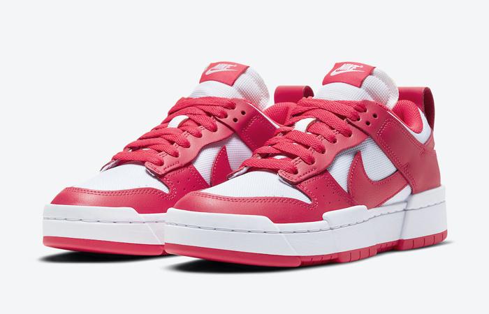 Nike Dunk Low Disrupt Siren Red White Womens CK6654-601 02