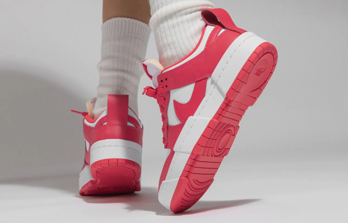 Nike Dunk Low Disrupt Siren Red White Womens CK6654-601 on foot 03