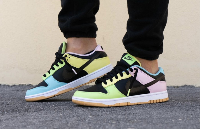Nike Dunk Low Free 99 Pack Black Multi DH0952-001 on foot 01
