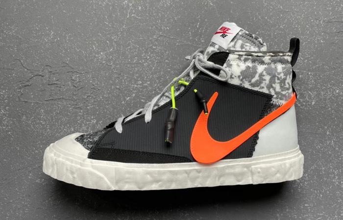 READYMADE Nike Blazer Mid Black Vast Grey CZ3589-001 02