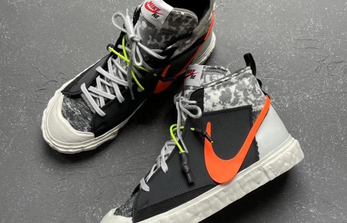 READYMADE Nike Blazer Mid Black Vast Grey CZ3589-001 04