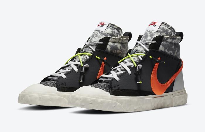 READYMADE Nike Blazer Mid Black Vast Grey CZ3589-001 05