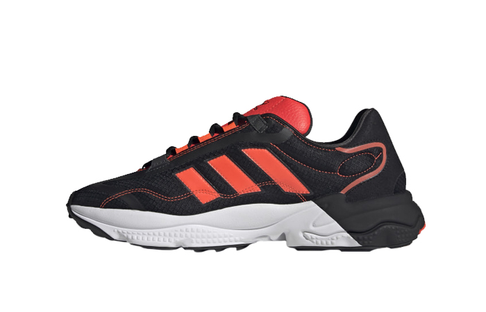 adidas Ozweego Pure Black Solar Red H04536 01