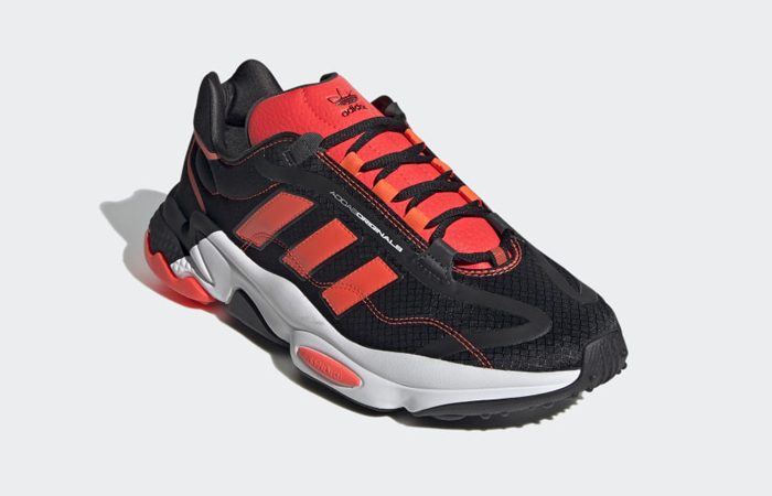 adidas Ozweego Pure Black Solar Red H04536 02