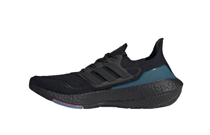 adidas Ultra Boost 21 Black Active Teal FZ1921 01