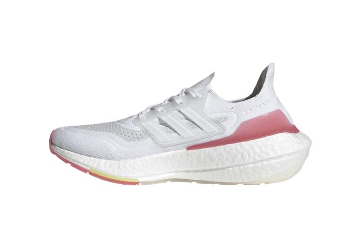 adidas Ultra Boost 21 White Hazy Rose Womens FY0416 01